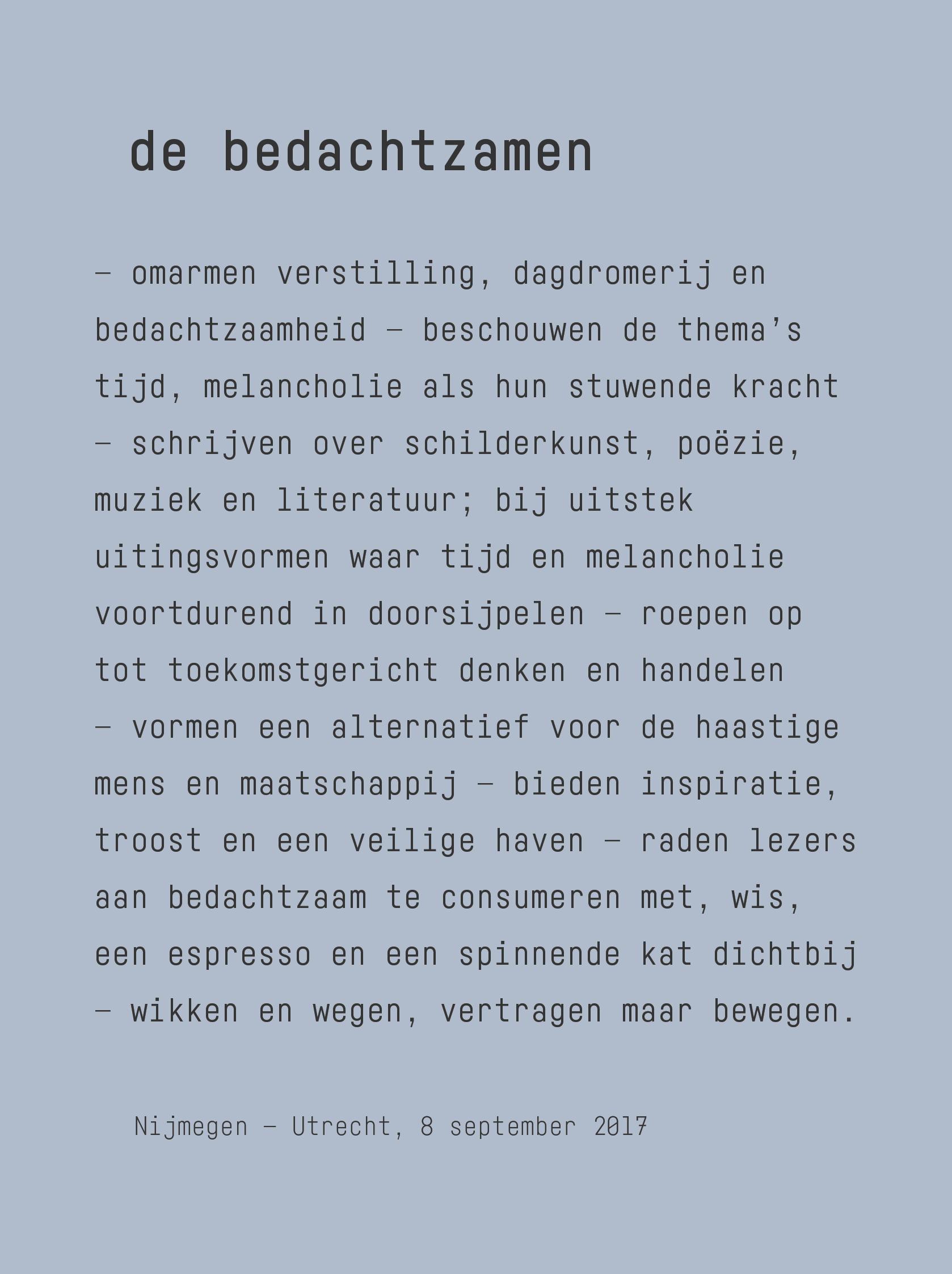 manifest_de_bedachtzamen